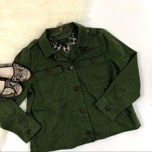 J. Crew Garment Dyed Sarfari Shirt Jacket